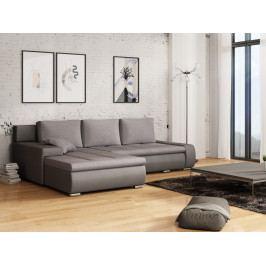 Smartshop Rohová sedačka TARO 3 univerzální roh, světle šedá látka/tmavě šedá ekokůže