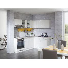 Rohová kuchyně ADELE  220x150 cm, korpus bílý/dvířka pino aurelio