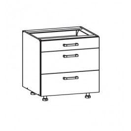 SOLE dolní skříňka D3S 80 SMARTBOX, korpus šedá grenola, dvířka dub arlington