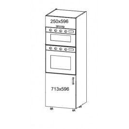 SOLE vysoká skříň DPS60/207O, korpus šedá grenola, dvířka bílý lesk