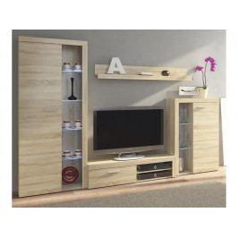 Smartshop ROCHESTER obývací stěna, dub sonoma