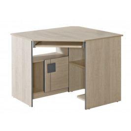 GIMMI, rohový PC stůl G11, dub santana/červená