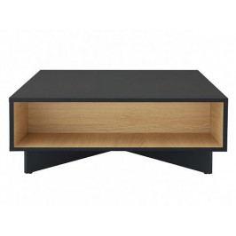 Black Red White MODAI konferenční stolek LAW/3/8, černý antracit/dub přírodní