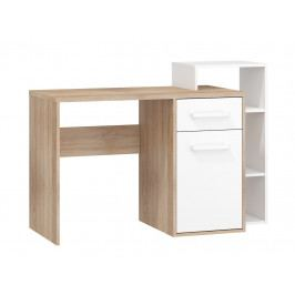 MORAVIA FLAT Psací stůl P RIO 04, dub sonoma/bílá