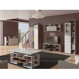 RIO obývací pokoj 3, craft tobaco/ craft bílý