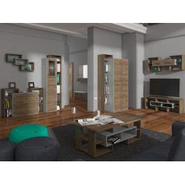 MORAVIA FLAT RIO obývací pokoj 4, craft bílý/craft zlatý