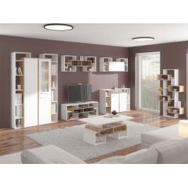 RIO obývací pokoj 7, dub sonoma/bílá