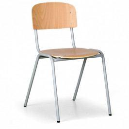 B2B Partner Dřevěná židle s šedou lakovanou konstrukcí