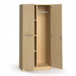 B2B Partner Kancelářská šatní skříň s policemi PRIMO, 1781 x 800 x 500 mm, bříza