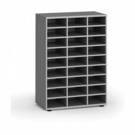 B2B Partner Třídící regál, 800 x 400 x 1129 mm, 27 přihrádek, šedý