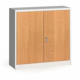 Alfa 3 Svařované skříně s lamino dveřmi, 1150 x 1200 x 400 mm, RAL 7035/buk