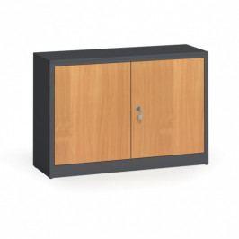 Alfa 3 Svařované skříně s lamino dveřmi, 800 x 1200 x 400 mm, RAL 7016/buk