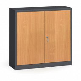 Alfa 3 Svařované skříně s lamino dveřmi, 1150 x 1200 x 400 mm, RAL 7016/buk