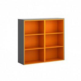 B2B Partner Skříňka krátká, grafitová/oranžová