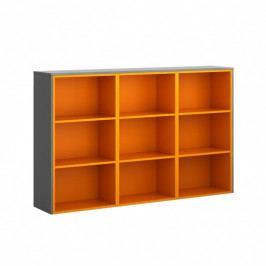 B2B Partner Skříňka dlouhá, grafitová/oranžová