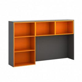 B2B Partner Skříňka ke stolu S05, levá, grafitová/oranžová