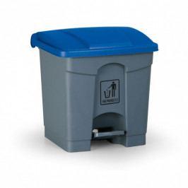B2B Partner Nášlapný víceúčelový koš, 30 L, 350 x 400 x 340 mm, modrá