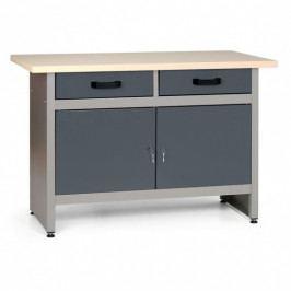 B2B Partner Pracovní stůl HOBBY III se zásuvkami a skříňkami