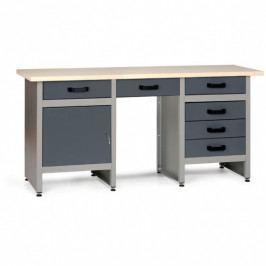 B2B Partner Pracovní stůl HOBBY III s 6 zásuvkami a skříňkou