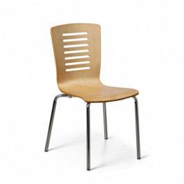 B2B Partner Dřevěná jídelní židle LINES, přírodní, balení 4 ks