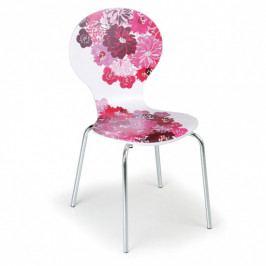 Dřevěná jídelní židle s chromovanou konstrukcí Style, 3+1 ZDARMA
