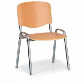 Dřevěná židle ISO, buk, konstrukce chromovaná, nosnost 150 kg, 3+1 ZDARMA