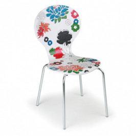 Dřevěná jídelní židle s chromovanou konstrukcí Holland, 3+1 ZDARMA