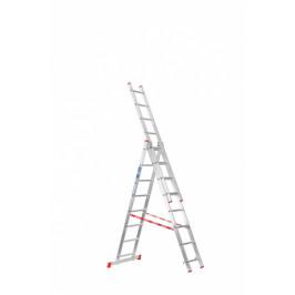 B2B Partner Trojdílný žebřík 3x8
