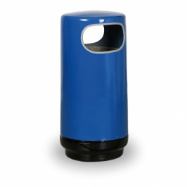 B2B Partner Nezničitelný sklolaminátový odpadkový koš – modrý