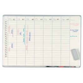 ekoTAB Týdenní plánovací tabule ekoTAB, 100x70 cm, lakovaná