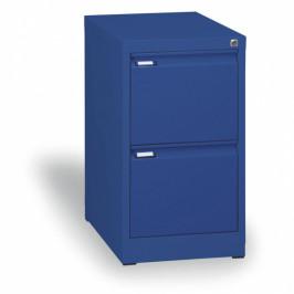 B2B Partner Kovová kartotéka A4, 2 zásuvky, modrá