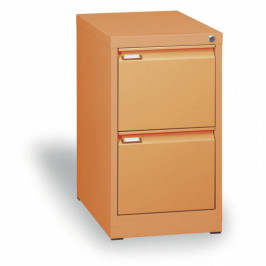B2B Partner Kovová kartotéka A4, 2 zásuvky, oranžová
