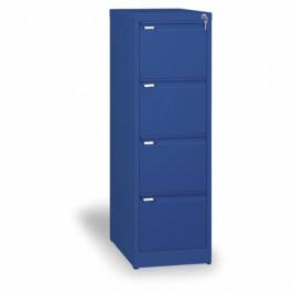 B2B Partner Kovová kartotéka A4, 4 zásuvky, modrá