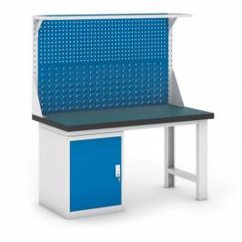 B2B Partner Dílenský stůl GB se skříňkou a nástavbou, 1500 mm
