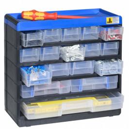 B2B Partner Plastová skříňka se zásobníky VarioPlus Pro 29/35, 17 zásuvek