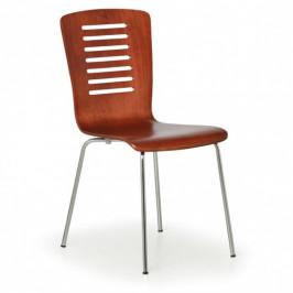 B2B Partner Dřevěná jídelní židle LINES, ořech, balení 4 ks