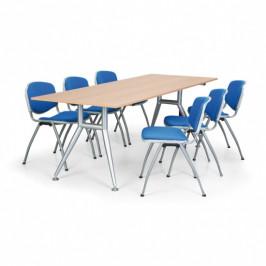 B2B Partner Jednací stůl WIDE, 2000 x 800 mm, ořech