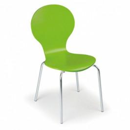 B2B Partner Dřevěná jídelní židle PEAS, zelená 4ks