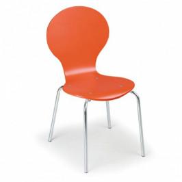 B2B Partner Dřevěná jídelní židle ORANGE, 4 ks
