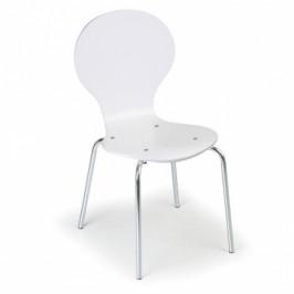 B2B Partner Dřevěná jídelní židle WAIT, 4 ks, bílá