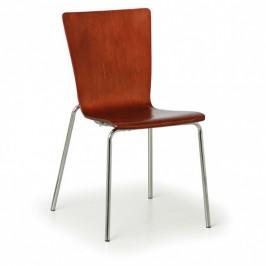 B2B Partner Dřevěná židle CALGARY, ořech - nosnost 110 kg, 4 ks