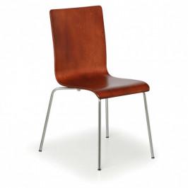 B2B Partner Dřevěná židle s chromovanou konstrukcí CLASSIC, ořech, 4 ks