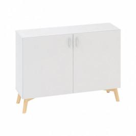 Interier Říčany Kancelářská skříň s dveřmi ROOT 1200 x 470 x 887 mm, bílá