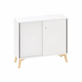 Interier Říčany Kancelářská zasouvací skříň ROOT 1000 x 450 x 887 mm, bílá