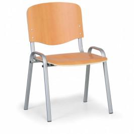 B2B Partner Dřevěná židle ISO, buk, konstrukce šedá, nosnost 120 kg