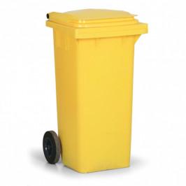 B2B Partner Plastová popelnice 120 litrů, žlutá