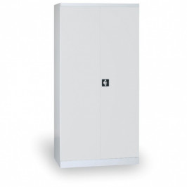 B2B Partner Kovová skříň, 1820 x 850 x 390 mm, 4 police, šedá