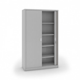 B2B Partner Kovová skříň se žaluziovými dveřmi, 1990 x 1200 x 450 mm, světle šedá