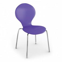 Jídelní židle Candy, fialová, 3+1 ZDARMA