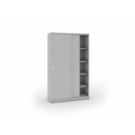 B2B Partner Kovová skříň s posuvnými dveřmi, 1990 x 1200 x 450 mm, světle šedá